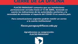 COMUNICADO: CIERRE DE LAS OFICINAS DE FLACSO